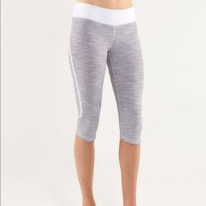Lululemon Run Pace Crop Wee Are From Space White